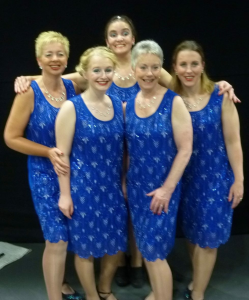Our five lovely new members at their first convention