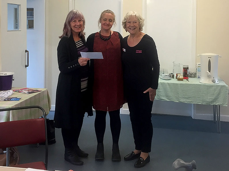 Dementia Connections Charity Cheque Presentation